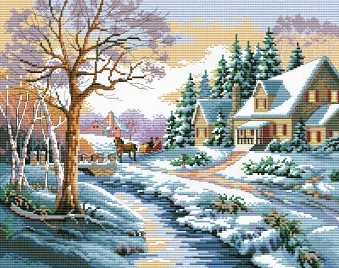 1013-14 Зимняя улица (Белоснежка)