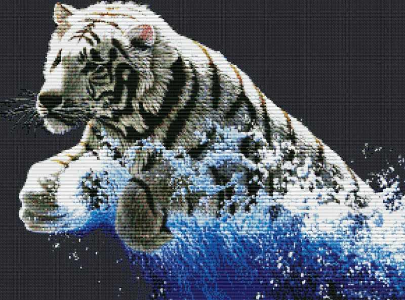1253-14 Белый тигр (Белоснежка)