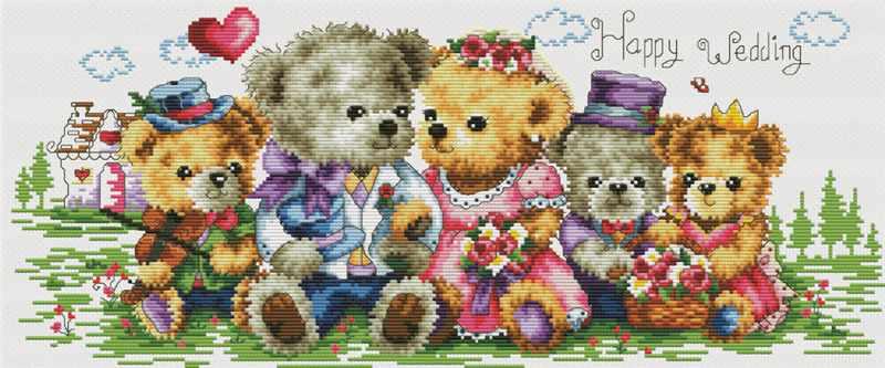 1708-14 Семейка медвежат (Белоснежка)