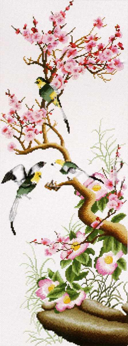 2177-14 Цветущая сакура (Белоснежка)
