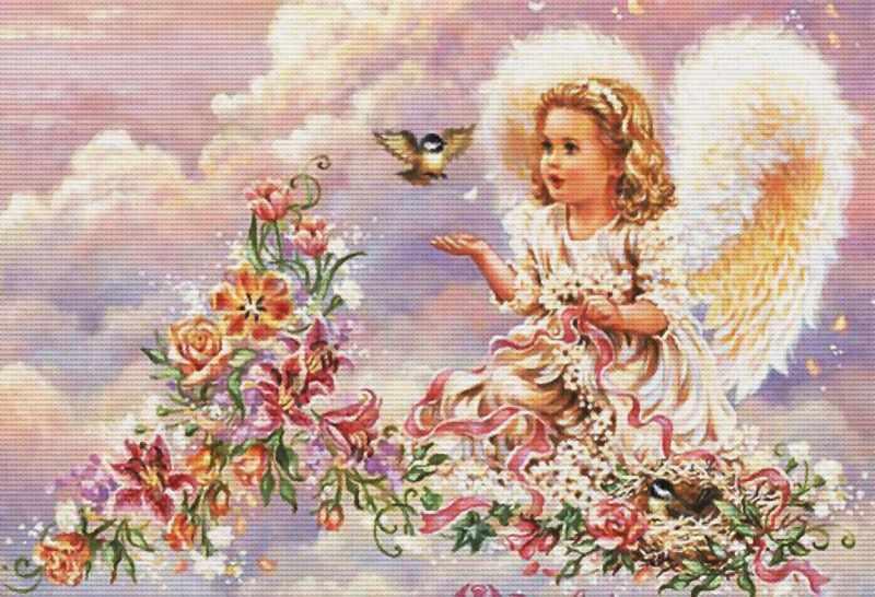 4002-14 Серебристый ангел (Белоснежка)