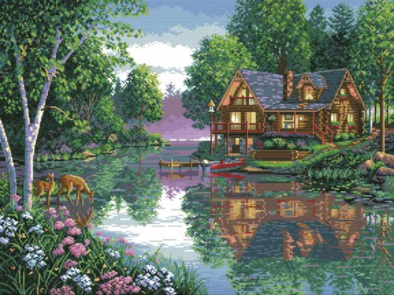 4050-14 Лесное озеро (Белоснежка)