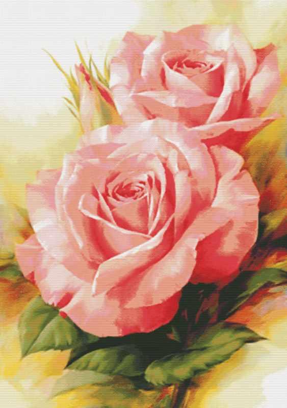 6080-14 Королевские розы (Белоснежка)