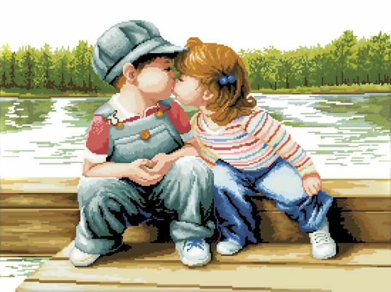 7090-3D Поцелуй у реки (Белоснежка)