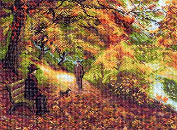 1411 Встреча - рисунок на канве (МП)