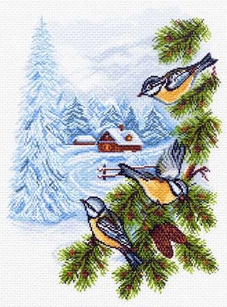 1448 Птички - рисунок на канве (МП)