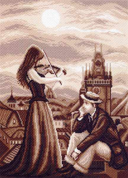 1460 Мелодия в ночи - рисунок на канве (МП)