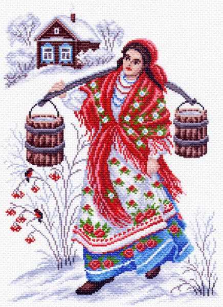 1464 Студеная водица - рисунок на канве (МП)