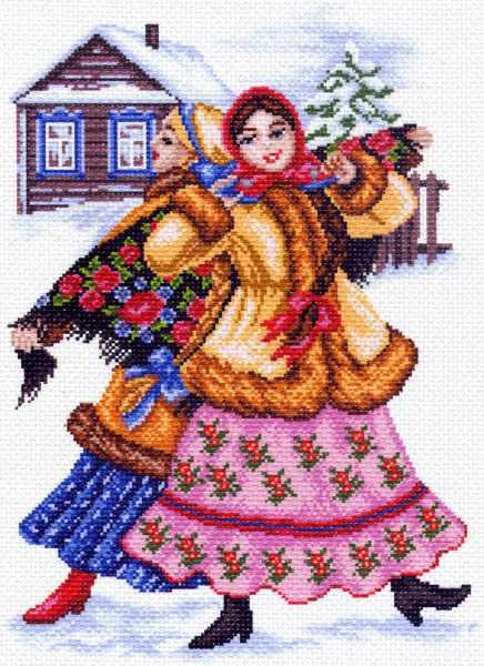 1465 Русские пляски - рисунок на канве (МП)