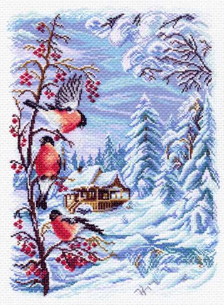 1508 Русская зима - рисунок на канве (МП)