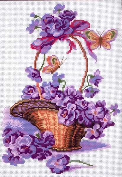 399 Корзинка с цветами (МП)