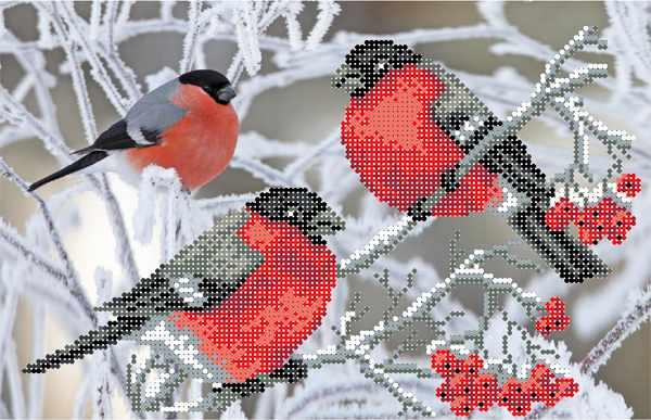 4027 Снегири - схема для вышивания (Матрёнин посад)