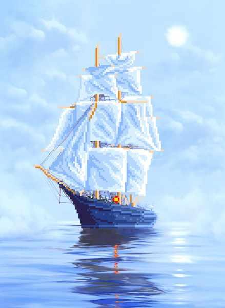 4055 Морской бриз - схема для вышивания (Матрёнин посад)