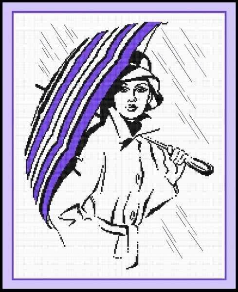 516 Девушка под зонтиком (Овен)