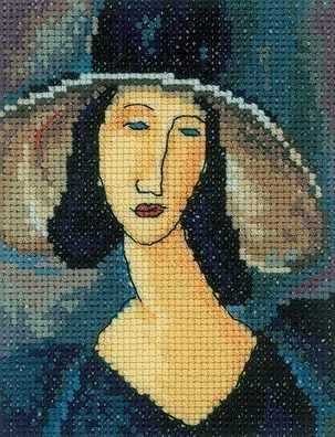 EH336 Портрет женщины в шляпе