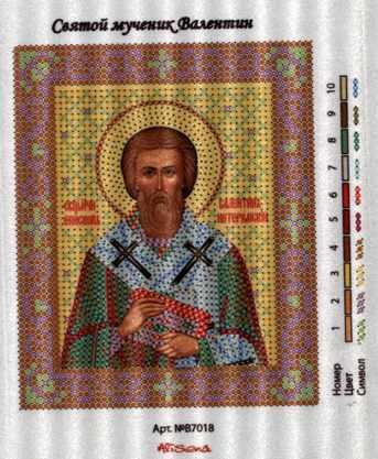В7018 Св. Валентин - рисунок на канве (Alisena)