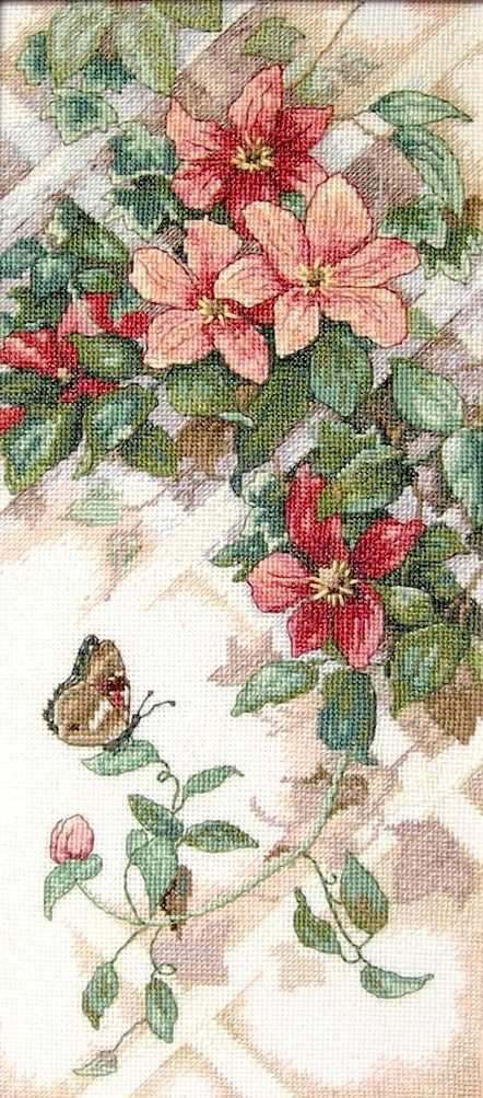 13686-DMS Бабочки и клематисы
