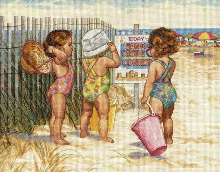 35216-DMS Дети на пляже