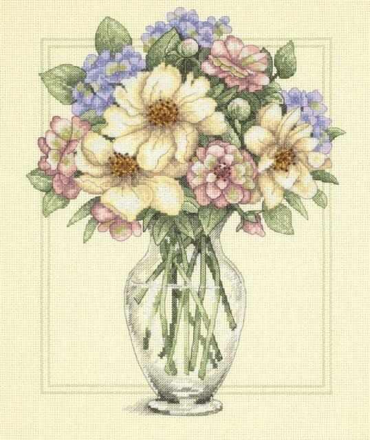 35228-DMS Цветы в высокой вазе