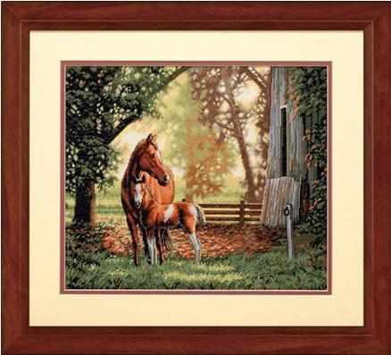 35260-DMS Лошадь с жеребенком