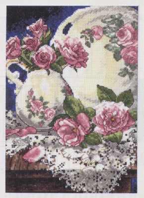 6929-DMS Розы и кружева