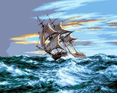 0657 Парусник на море