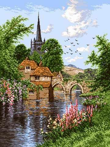 0870 Английское озеро (English lanscape)