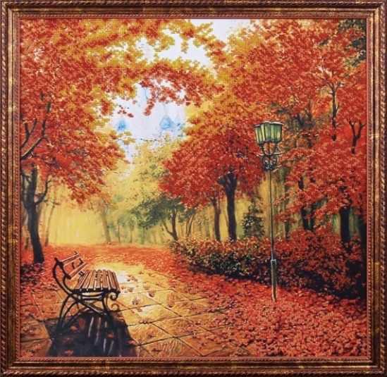 Б-010 Осенний парк -  Магия канвы