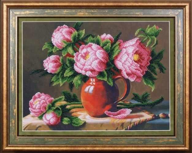 Б-054 Розовые пионы - Магия канвы
