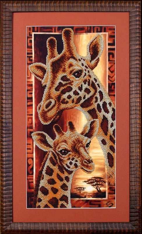 Б-057 Африка: Жирафы - Магия канвы