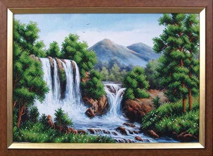 Б-125 Водопад в горах - Магия канвы