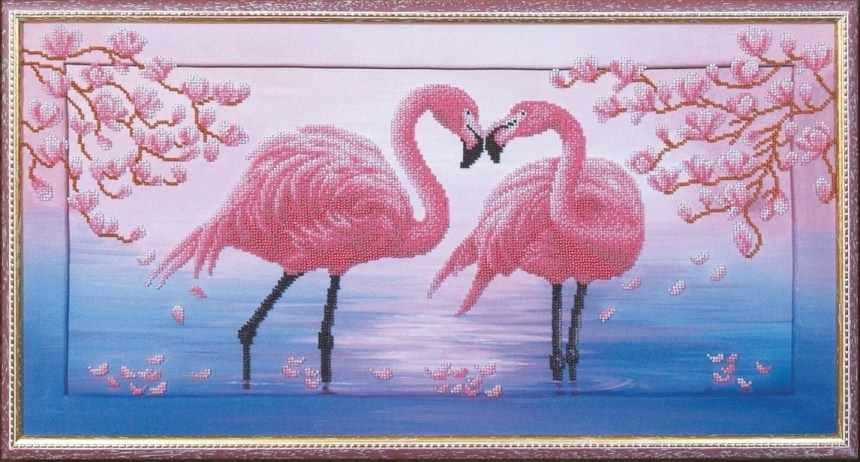 Б-114 Розовые фламинго - Магия канвы
