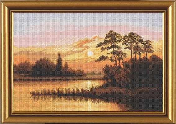 РЕ 3248 Закат над озером