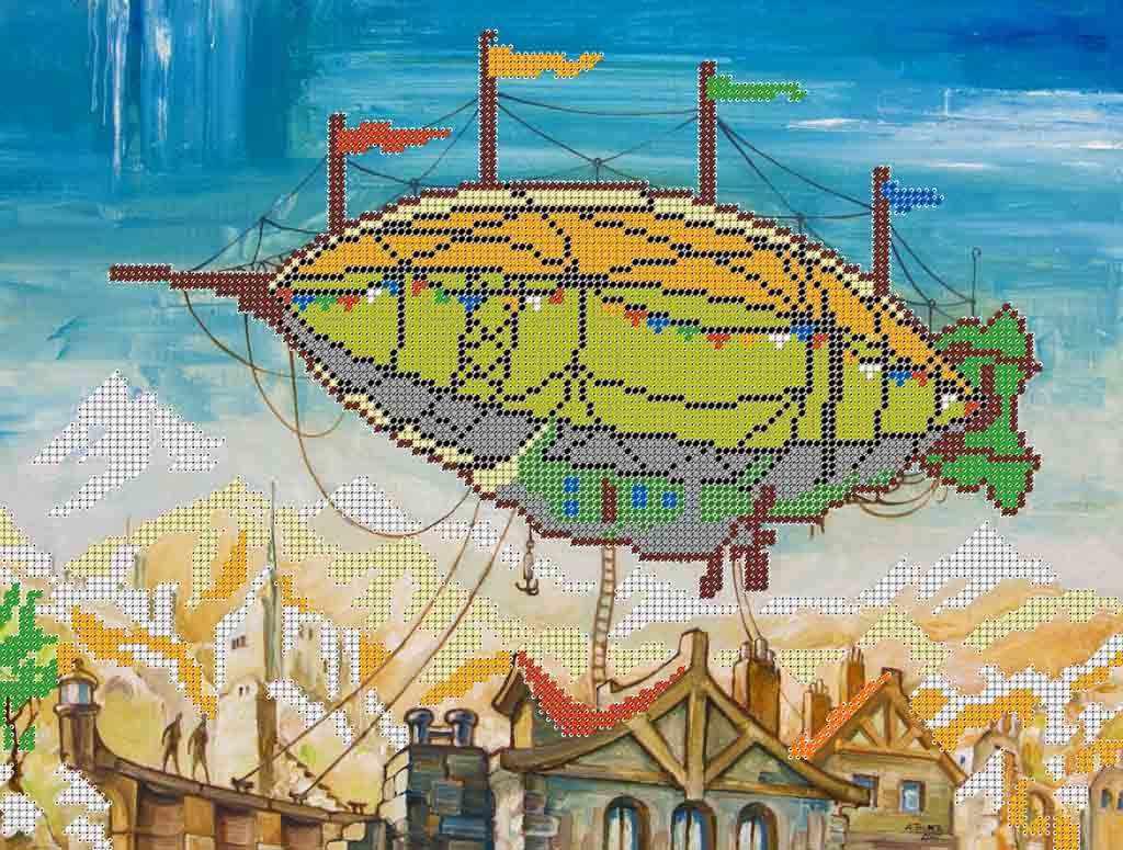 Дирижабль - схема для вышивания (Простор)