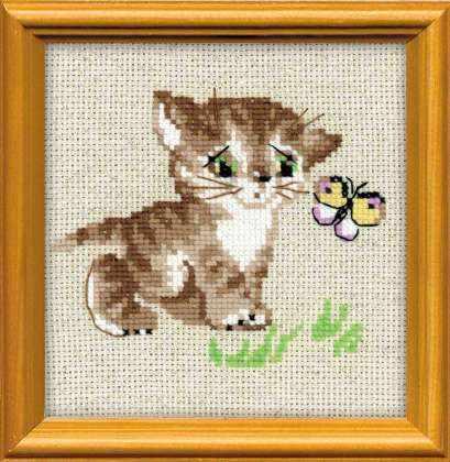 1049 «Котенок с бабочкой»