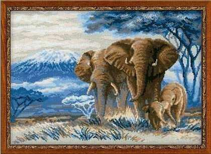 """1144 """"Слоны в саванне"""""""