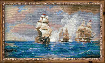 "1154 ""Бриг ""Меркурий"", атакованный двумя турецкими кораблями"""