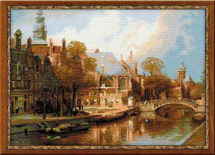 """1189 """"Амстердам. Старая церковь и церковь св. Николая Чудотворца"""""""