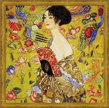 """1226 """"Дама с веером"""" по мотивам картины Г.Климта"""