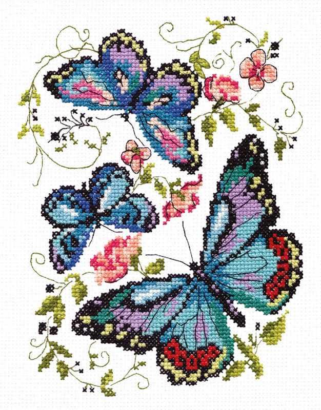 42-03 Синие бабочки