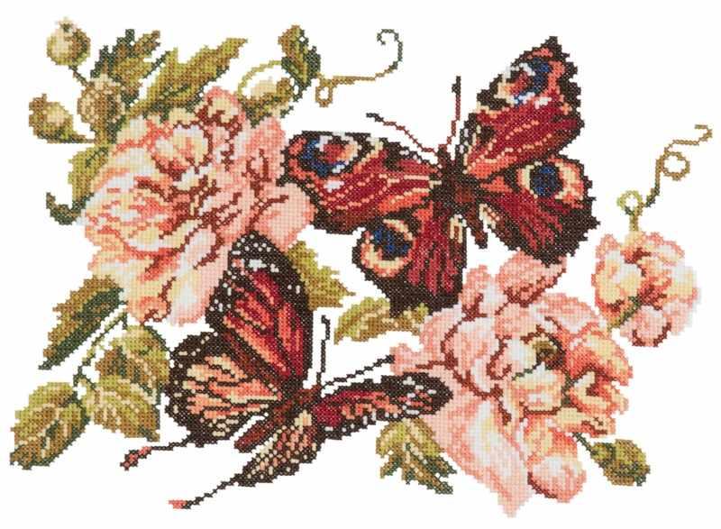 42-06 Пионы и бабочки