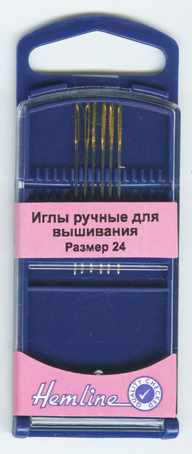 283G.24 Иглы для вышивания №24, 6 шт.