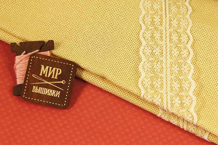 Канва Zweigart 3770 Davosa (100% хлопок) цвет264-кремовый  шир140 18ct-71кл/10см
