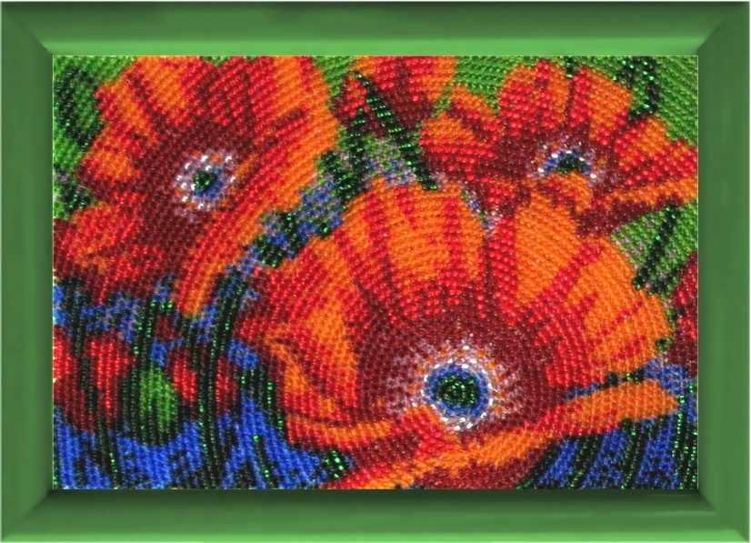 940 Весенние маки - схема для вышивания (Butterfly)