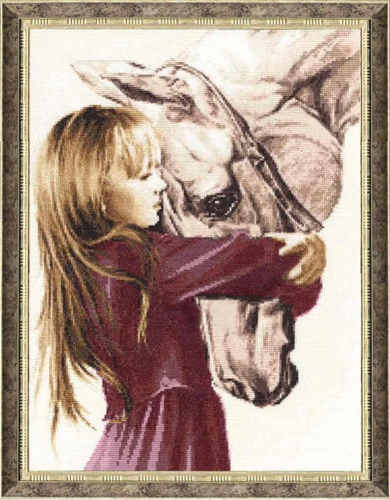 СВ-016 Девочка с лошадью. Свет жизни