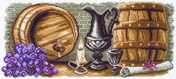 1574 Винный погребок рисунок на канве (МП)