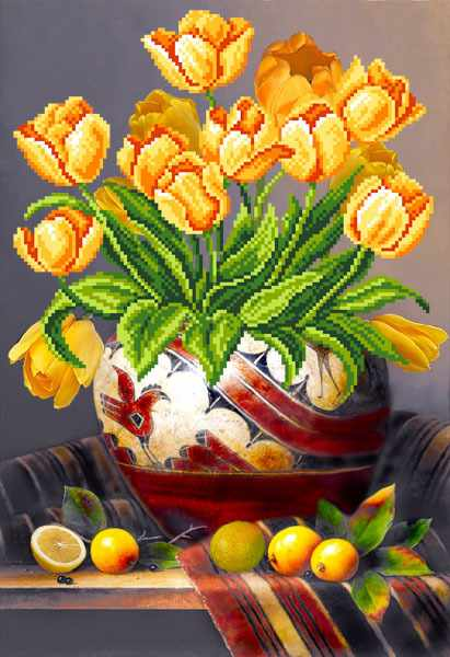 4100 Тюльпаны - схема для вышивания (Матрёнин посад)