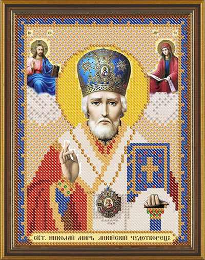 Бис 5014 Св. Николай (рисунок на ткани)