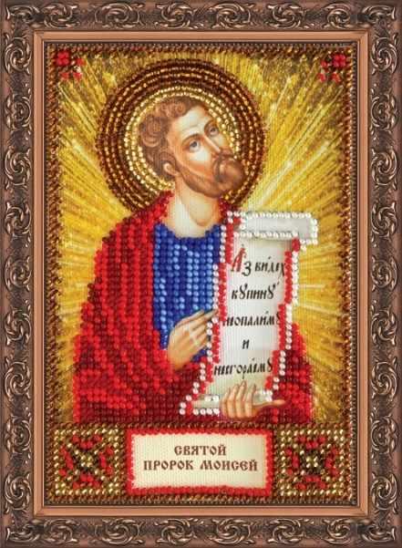 """ААМ-112 Набор для вышивания бисером икона """"Св. Моисей"""""""