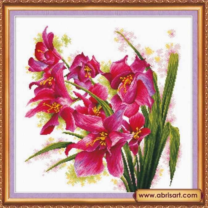 АН-003 Лиловые орхидеи